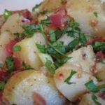 German Potato Salad with Eggs and Hot Bacon Dressing