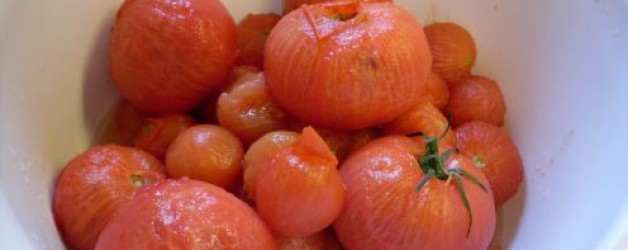 How to Blanch and Peel Veggies and Fruit