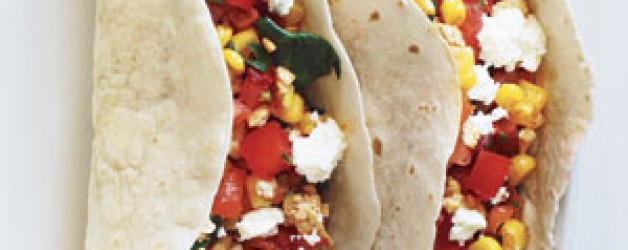 Recipe – Vegetarian Tacos with Goat Cheese
