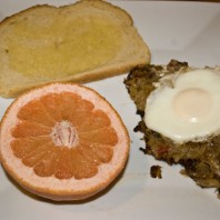 Recipe – Meatless Hash and Eggs via Kathy
