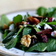 Recipe – Arugula Salad with Beets and Goat Cheese